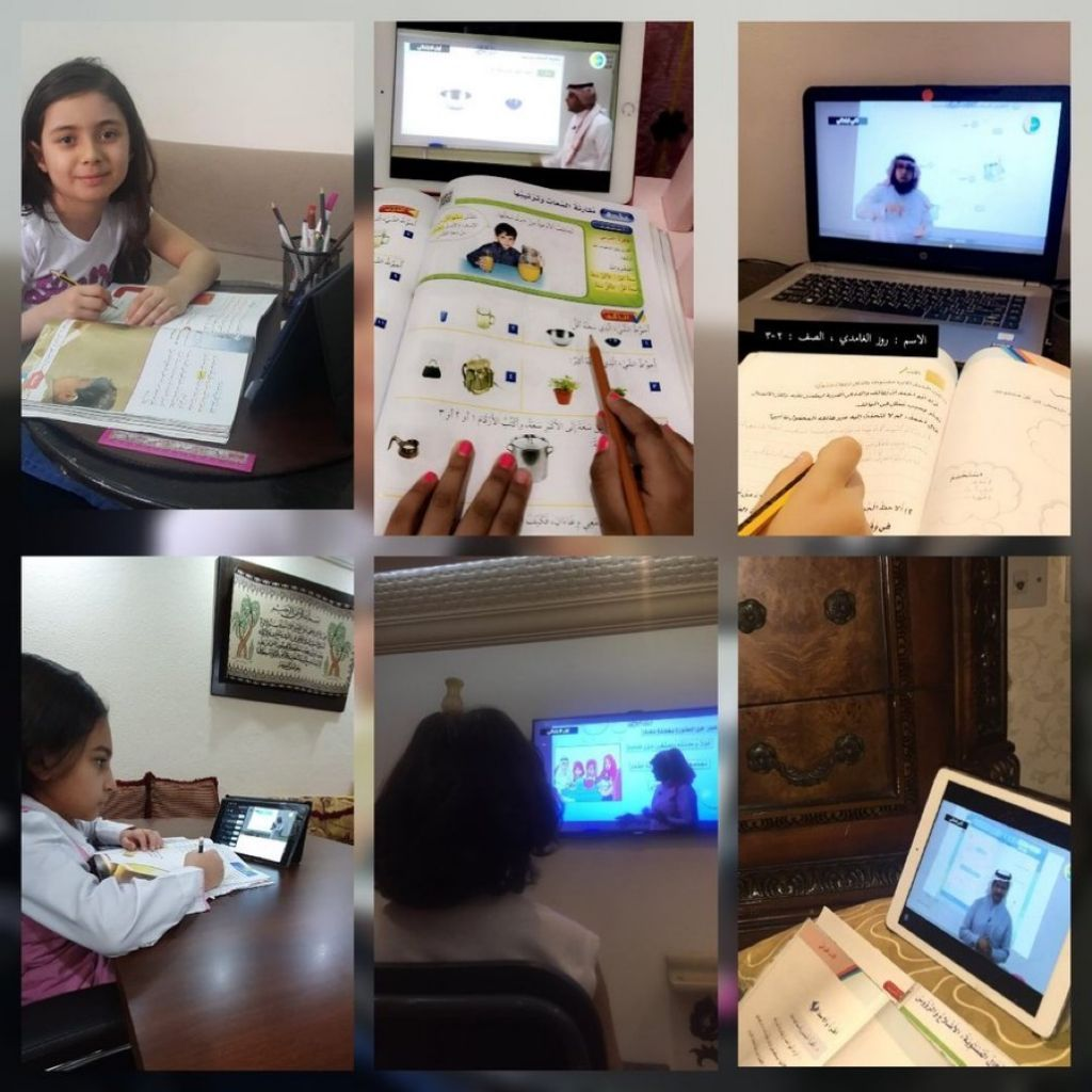 طالبات وطلاب مدارس وسط جدة بنات يواصلون التعليم عن بعد من منازلهم عن طريق منظومة التعليم الموحد من خلال قنوات عين التعليمية